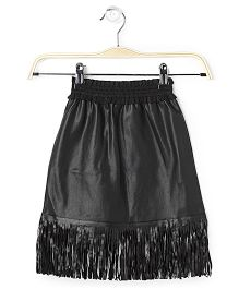 Cubmarks Fringed Bottom Skirt - Black