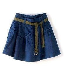 Cubmarks  Divider Skirt With Belt - Blue