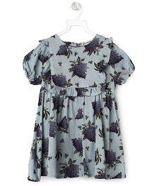 Cubmarks Floral Summer Dress  - Grey