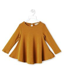 Cubmarks Crew Neck Flare Top - Mustard