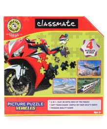 Classmate Picture Vehicles Puzzle - 60 Pieces