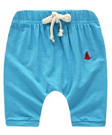 Awabox Boat Logo Applique Shorts - Blue