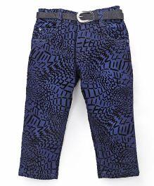 Pink Kat Girl's Denim Jeans Pant - Blue