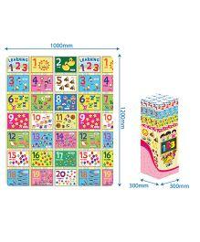 Sunta Heat Transferred Printed Roll Mat Number Print - Multicolor