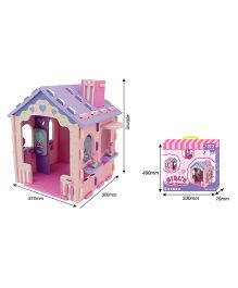 Sunta DIY Girls Doll House Pink - 53 Cm