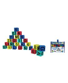 Sunta Alphabet And Number Learning Cubes 30 Pieces - Multicolor