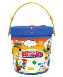 Sunta Basic Blocks Bucket Pack - 62 Pieces
