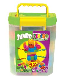 Sunta Jumbo Blocks In Carry Box Container - 52 Pieces