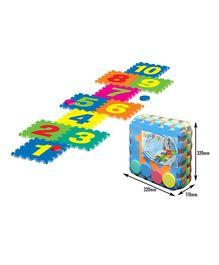 Sunta Puzzle Mat Numbers Multi Color - 10 Pieces