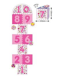 Sunta Puzzle Mat Numbers Pink And White - 11 Pieces