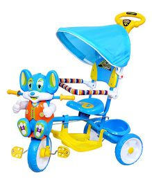 Luusa Happy Mickey Tricycle - Blue And Yellow