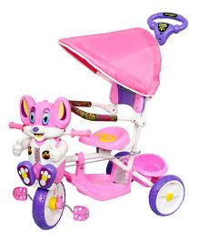 Luusa Happy Mickey Tricycle - Pink