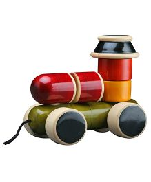Wembley Wooden Organic Playful Assembling Train - Multicolor