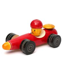 Wembley Wooden Organic Grip Enhancing Big Race Car - Red