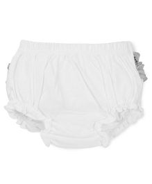 Tiny Bee Girls Ruffle Panty - White & Yellow