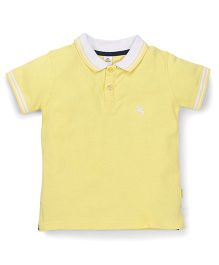 Tiny Bee Boys Polo Neck T-Shirt - Yellow