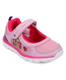 Barbie Design Casual Shoes With Velcro Closure - Pink