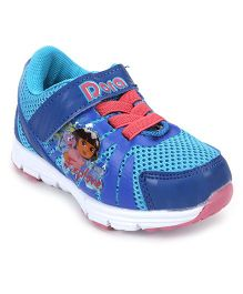 Dora Sports Shoes With Velcro Closure - Blue