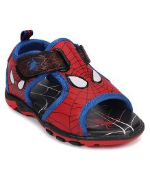 Spider Man Design Velcro Closure Sandal - Red Blue