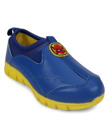 Spider Man Casual Slip On Shoes - Blue Yellow