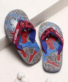Spider Man Flip Flops With Elastic - Grey
