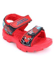 Spider Man Sandals With Double Velcro Closure - Red