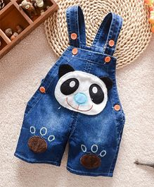 Superfie Panda Patch Dungaree - Blue