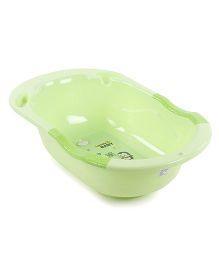 Baby Bath Tub Penguin Print - Green