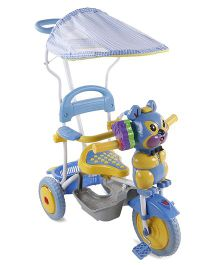 Fab N Funky Tricycle With Canopy N Push Handle - Blue