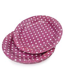 Karmallys	 Polka Dots Paper Plates Pack of 10 - Purple