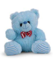 Funzoo Teddy Bear With Bow Soft Toy Sky Blue - 26 cm