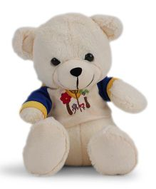 Funzoo Balloon Teddy Bear Soft Toy White And Blue - 26 cm