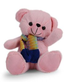 Funzoo Teddy Bear With Muffler Pink - 26 cm