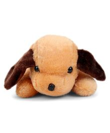Tickles Soft Toy Adorable Lying Dog Brown - 26 cm