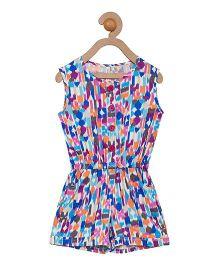 Campana Sleeveless Jumpsuit Allover Print - Multicolor
