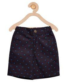 Campana Printed Zipper Shorts