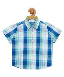Campana Half Sleeves Checks Shirt - Blue