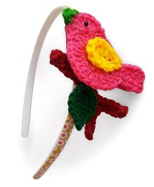Soulfulsaai Bird Hair band - Pink