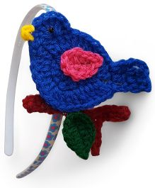 Soulfulsaai Bird Hair band - Dark Blue