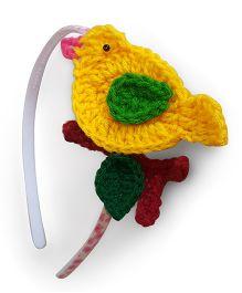 Soulfulsaai Bird Hair band - Yellow