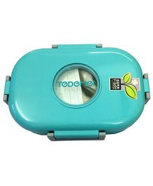 Thought Counts Lunch Box With Spoon - Aqua Blue