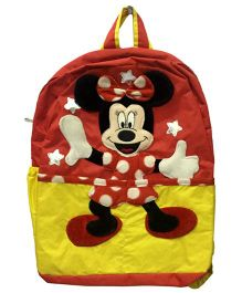 Thought Counts 3D Cartoon Charachter School Bag - Red & Yellow