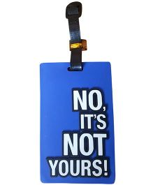 Thought Counts No It's Not Yours Travel Tag - Dark Blue