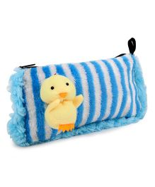 Tickles Cute Duck Soft Toy Pencil Pouch - Blue