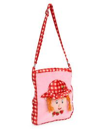 Tickles Doll School Sling Bag Pink And Red - 11 inch