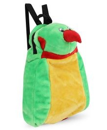 Tickles Soft Toy Parrot Back Pack Green Yellow - 13 inch