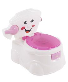 Learn To Flush Baby Potty Chair Smiley Face - Pink & White