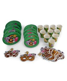 Themez Only Jungle Theme Birthday Party Kit - Pack Of 4