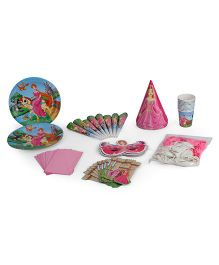 Themez Only Birthday Party Kit Princess Theme Set Of 7 - Pink