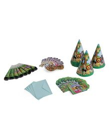 Themez Only Birthday Party Kit Jungle Theme Pack Of 4 - Green